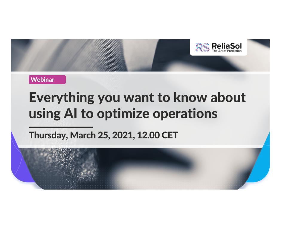 Using AI to optimize operations webinar